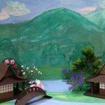 Анна, Карина, Елизавета «Макет национального ландшафта Японии»