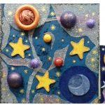 «Сияние Галактики» - совместная работа, выполненная в смешанной технике (текстильная аппликация, декопатч)