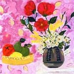 Догонадзе Мариам. «Натюрморт с цветами». Работа Догонадзе Мариам опубликована в журнале «Костер» №5-6 за 2005 г.