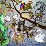 6 класс. Коллективная работа. Декоративная композиция «Сказки А.С. Пушкина»