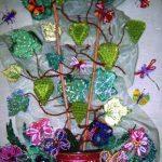 Коллективная работа 3 класса. «В мире цветов и насекомых». Бисероплетение, аппликация текстильными материалами