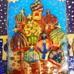 ождественский Санкт-Петербург. Керамика, совместная работа учащихся 2А и 3Б класса, МШГУ