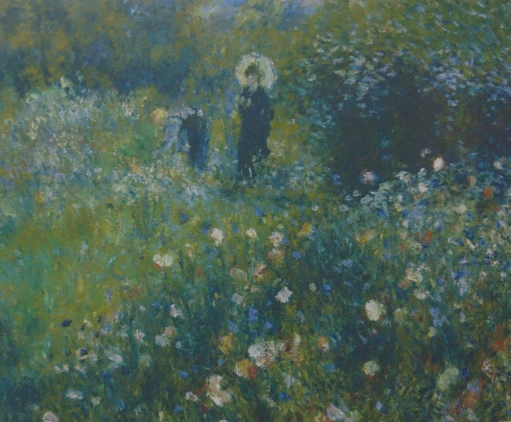 П. Огюст Ренуар. Женщина с зонтиком в саду