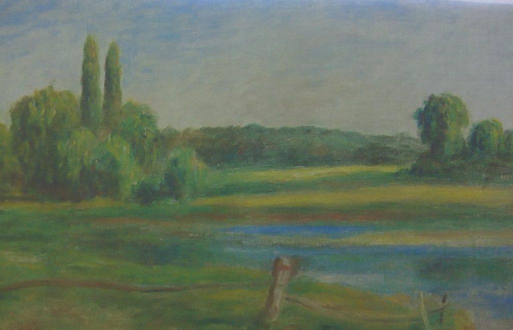 О. Ренуар. Пейзаж с забором