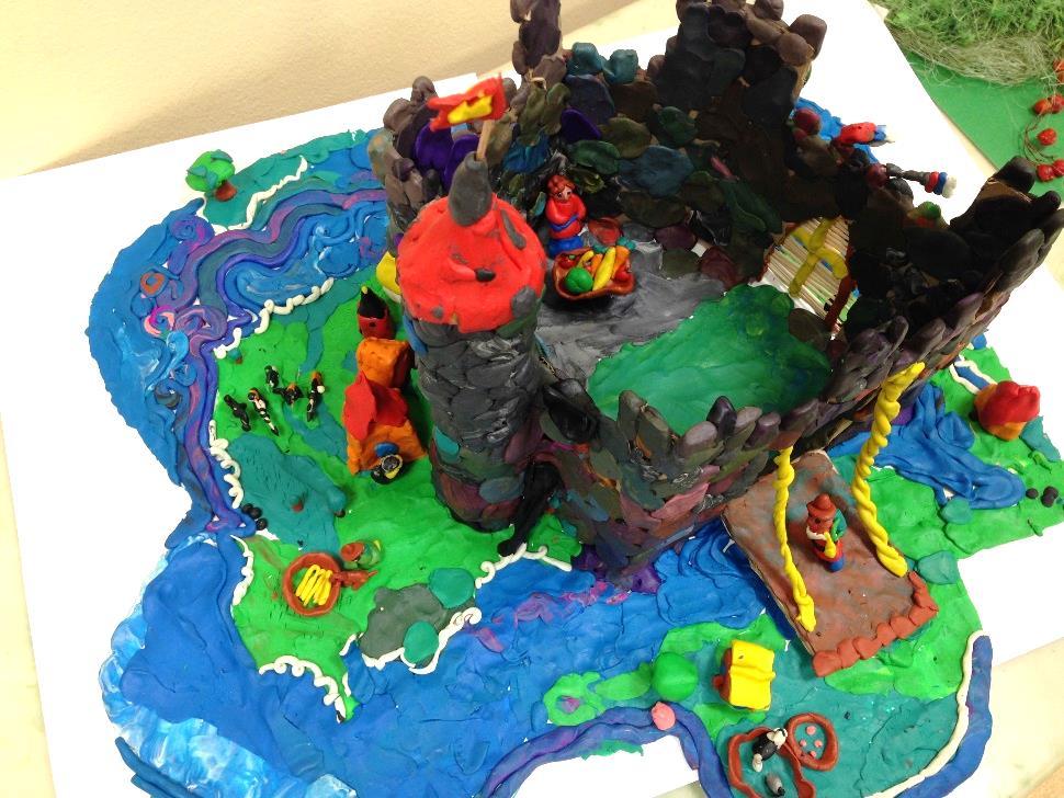 Лепка. «Средневековый замок» пластилин/ коллективная работа 1-3 класс
