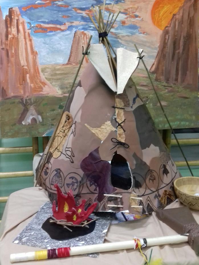 Типи. Конструирование и декор национального жилища индейцев Северной Америки